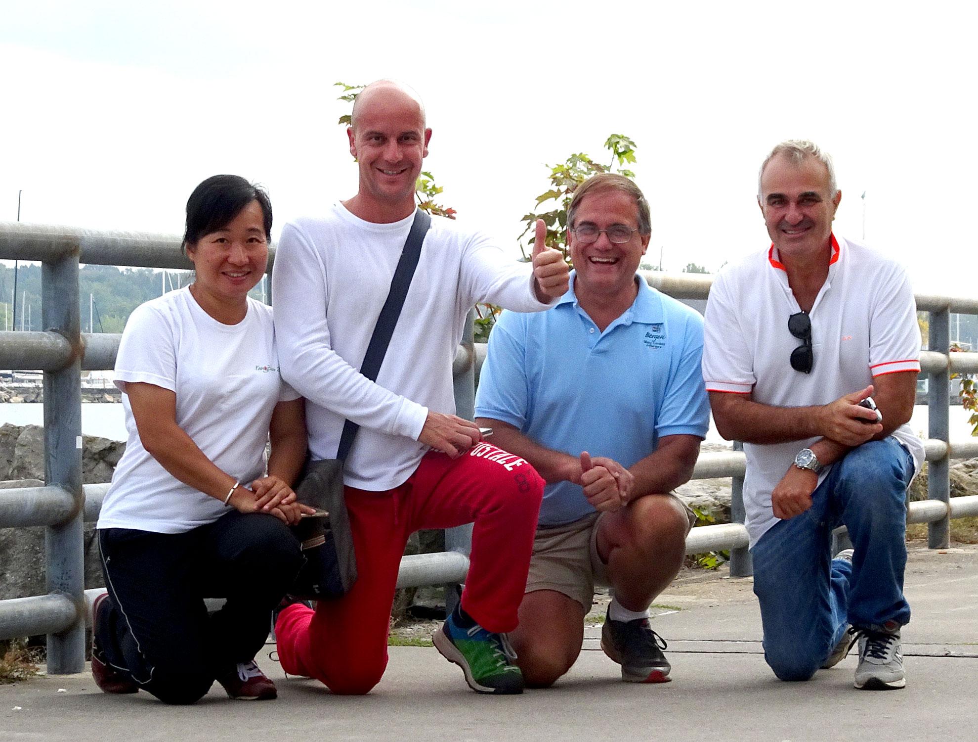 Gianluca, Larry, Lily e Davide al lago Ontario
