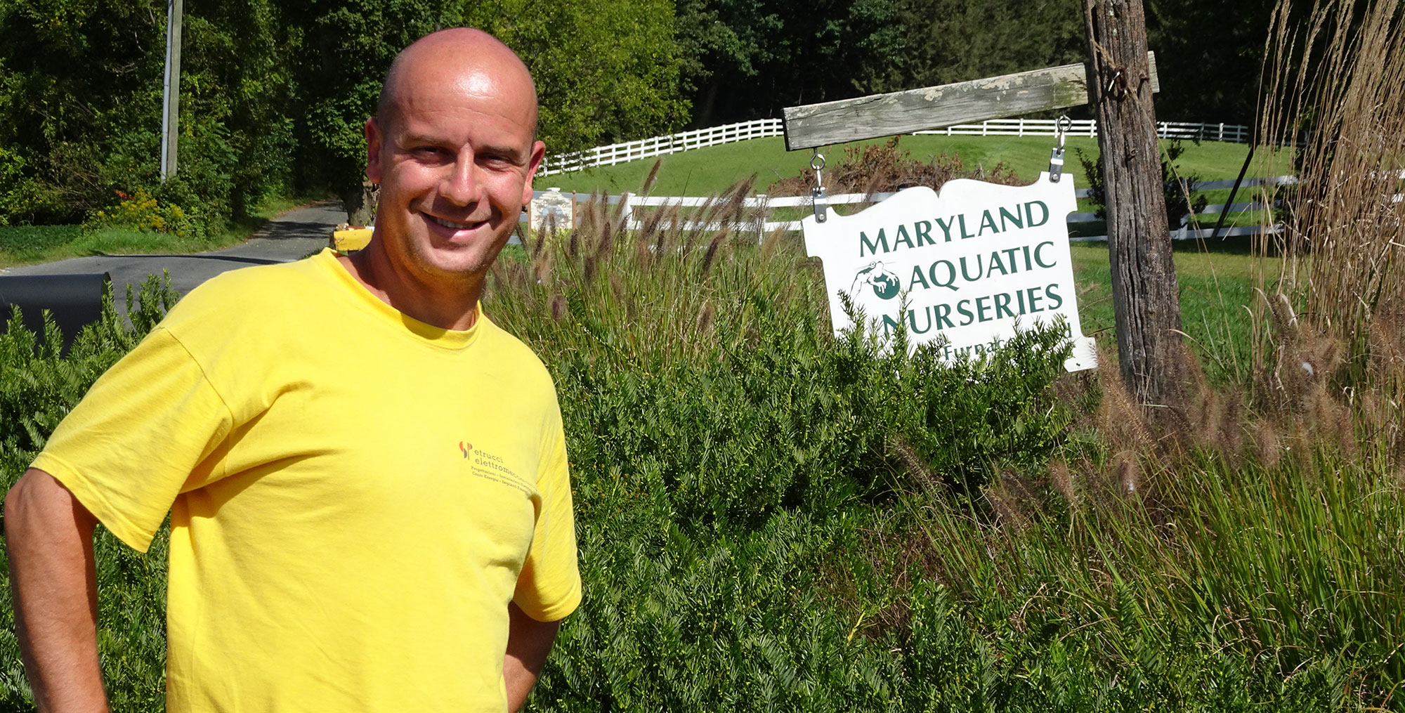 Maryland Aquatic Nursery entrance