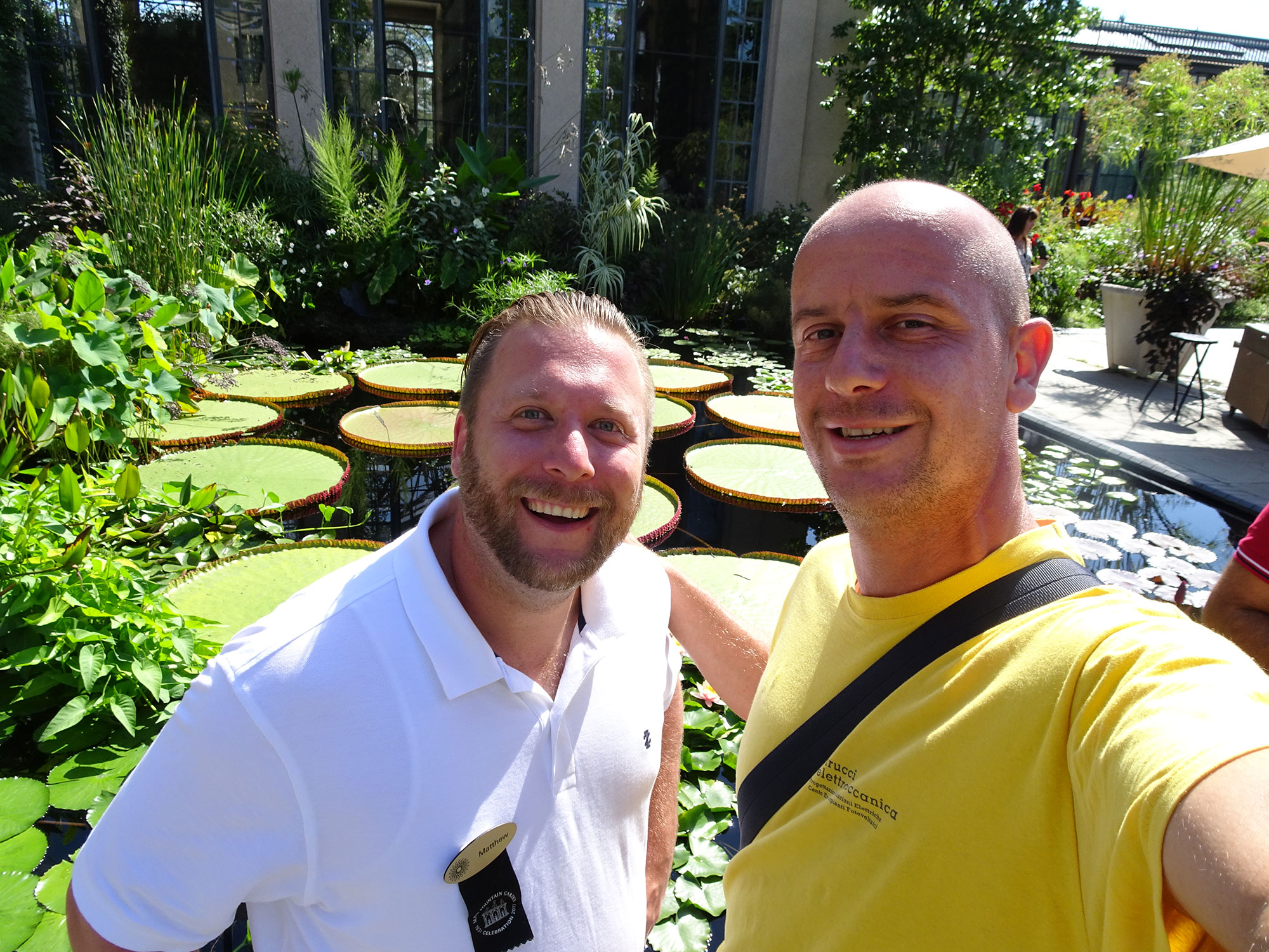 Matthew and Gianluca at Longwood gardens