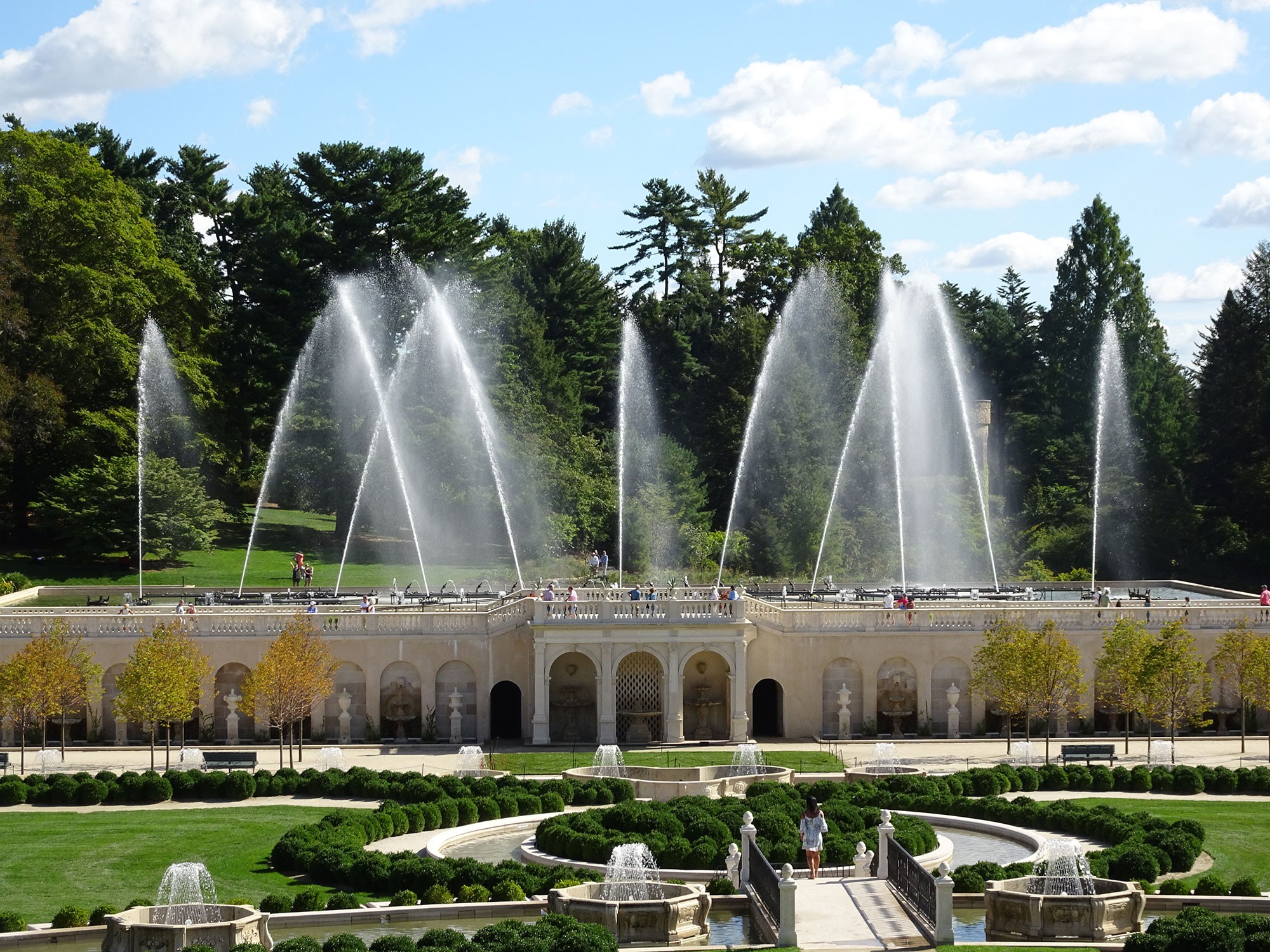 Dancing fountains at Longwood gardens