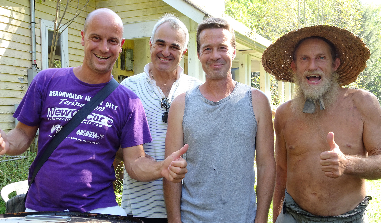 Gianluca, Davide, Tony e Mike