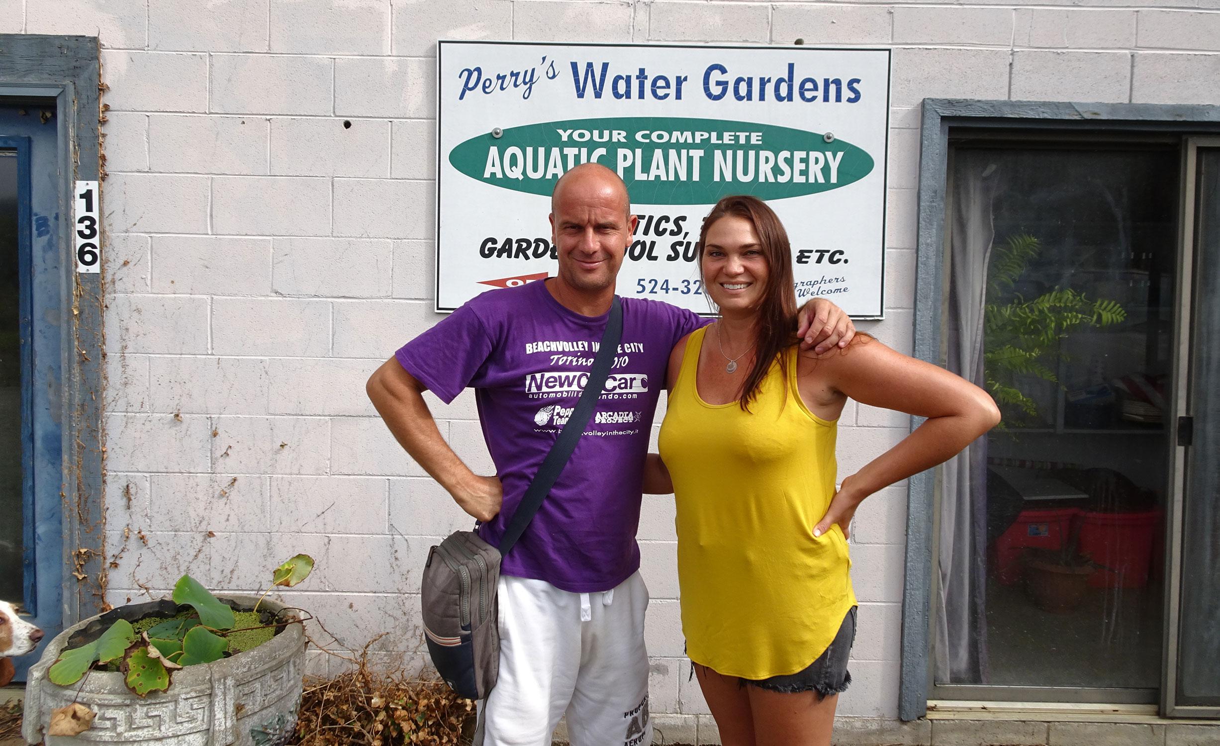 Gianluca e Nikki Gibson al Perry's Water Gardens