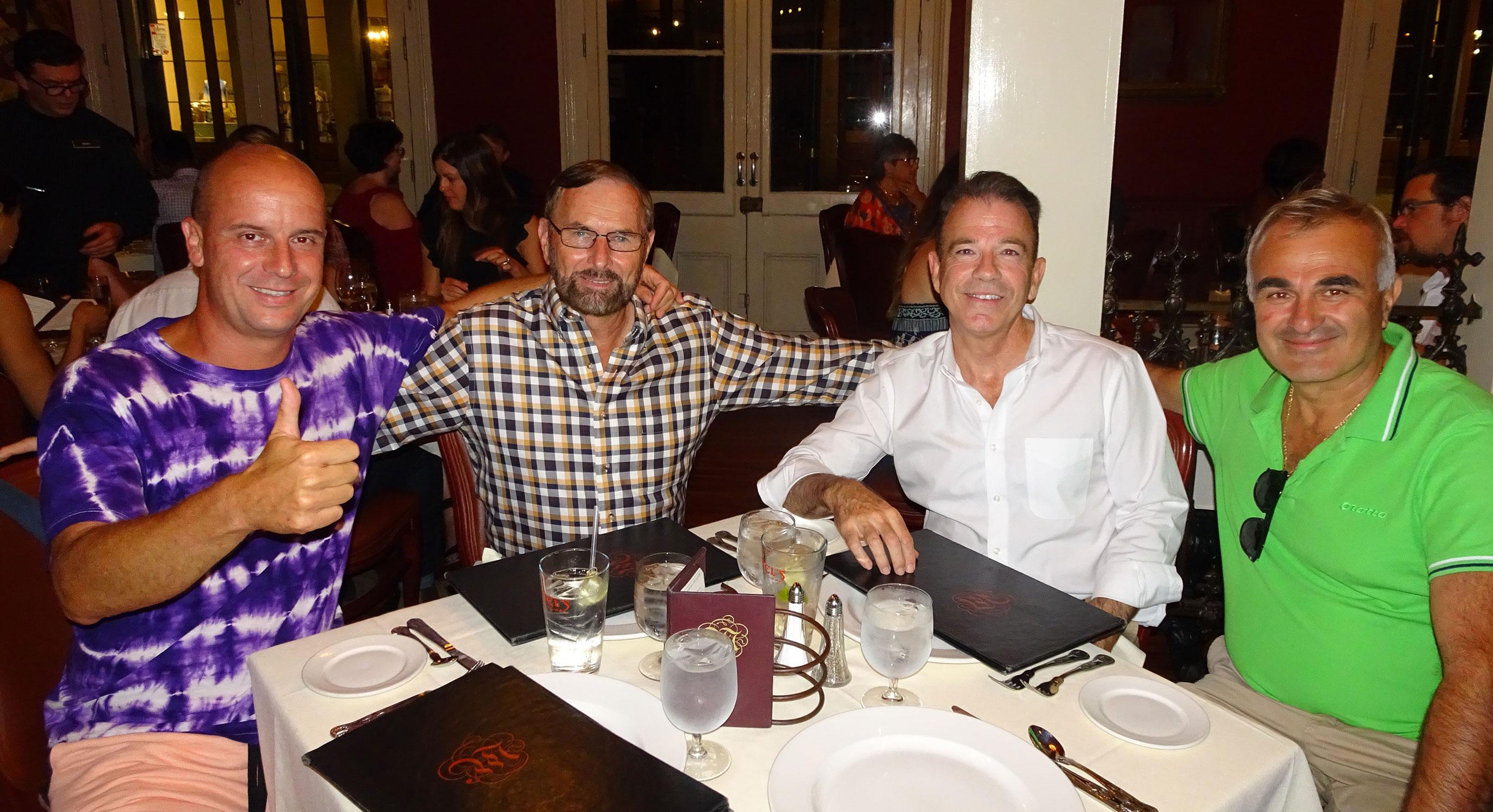 Gianluca, Rich, Kevin e Davide a cena a New Orleans