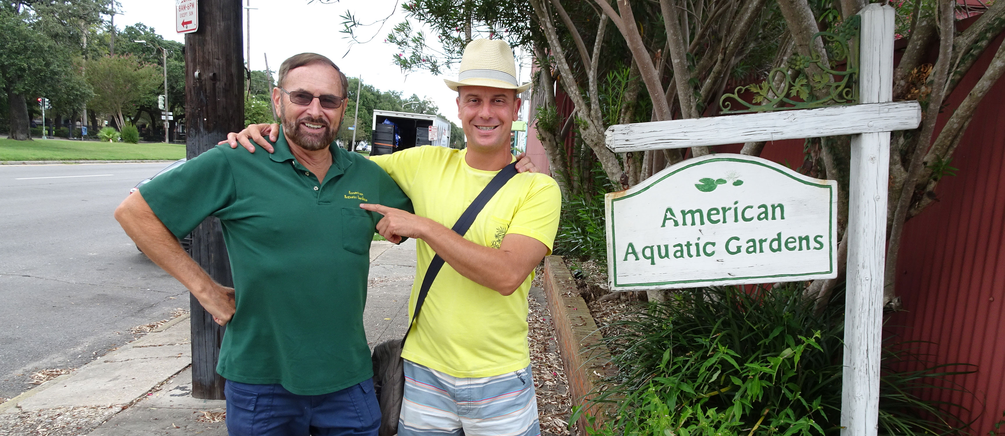 Rich e Gianluca all'American Aquatic Garden