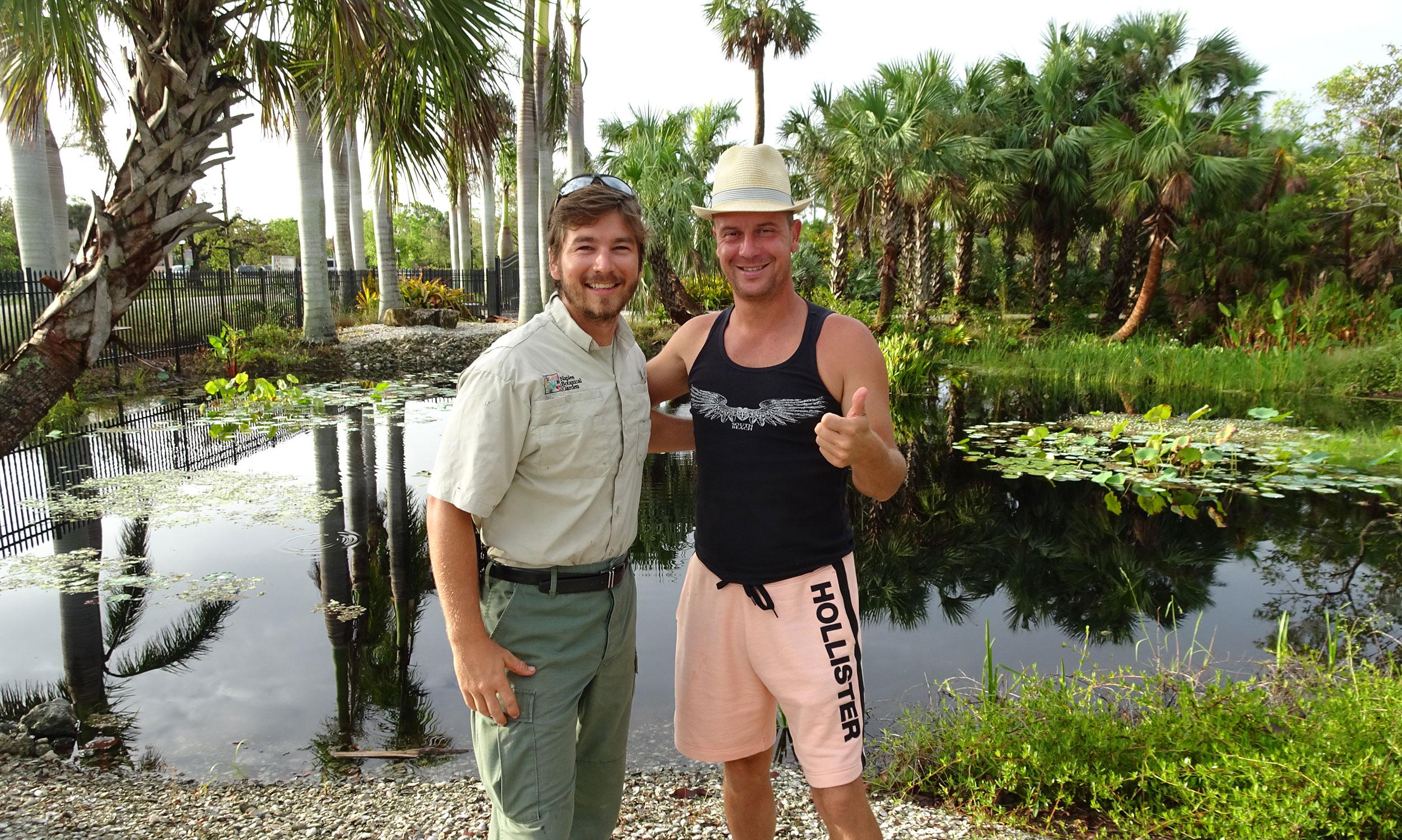 Gianluca and Daniel at Naples Botanical Garden